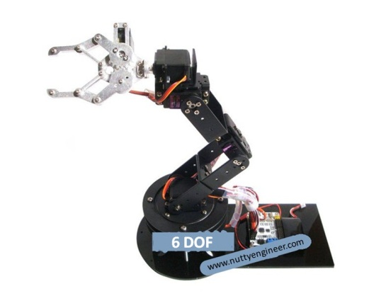 Robotic arm robotic hand with 6 degree of freedom Motor for robotic arm
